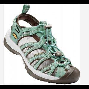 Keen Whisper Sandal Mint Green & Charcoal